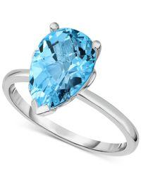 Macy's   Blue Topaz (3-5/8 Ct. T.w.) Ring In Sterling Silver   Lyst
