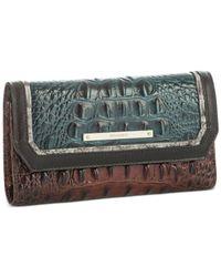 Brahmin | Multicolor Ivy Figaro Soft Checkbook Wallet | Lyst
