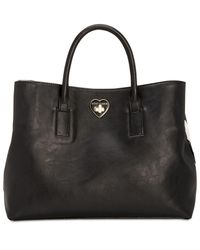 Betsey Johnson - Black Large Chevron Tote With Hotel Charms - Lyst