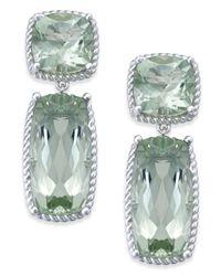 Macy's - Green Prasiolite Drop Earrings (14 Ct. T.w.) In Sterling Silver - Lyst