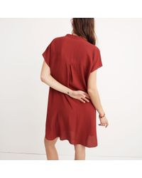 Madewell - Red Bicoastal Dress - Lyst