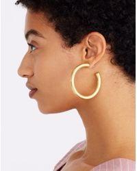 Madewell - Metallic Chunky Oversized Hoop Earrings - Lyst