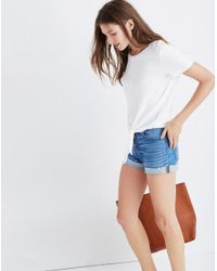 Madewell - White Texture & Thread Modern Tie-front Top - Lyst