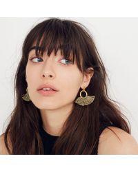 Madewell - Multicolor Tassel Hoop Earrings - Lyst
