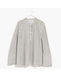 Madewell - White Striped Flare-sleeve Shirt - Lyst