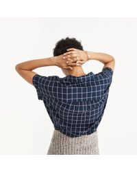 Madewell | Blue Central Shirt In Windowpane | Lyst