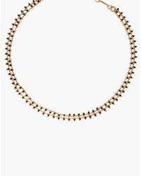 Madewell - Metallic Beadlink Choker Necklace - Lyst