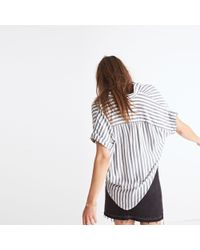 Madewell - Blue Central Shirt In Stripe - Lyst
