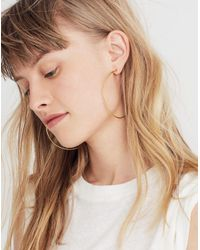 Madewell - Metallic Oversized Hoop Earrings - Lyst