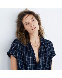 Madewell - Metallic Sestina Toggle Necklace - Lyst