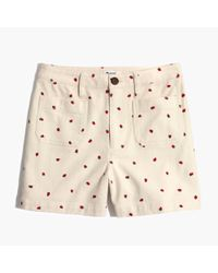 Madewell - Multicolor Emmett Shorts In Fresh Strawberries - Lyst