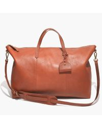Madewell - Brown The Transport Weekender - Lyst