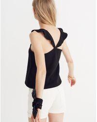 Madewell - Black Texture & Thread Ruffle-strap Tank Top - Lyst