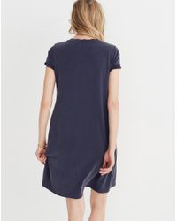 Madewell - Blue Sandwashed Swingy Tee Dress - Lyst