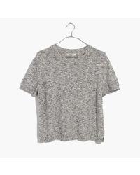 Madewell - Gray Pocket Tee Sweater - Lyst