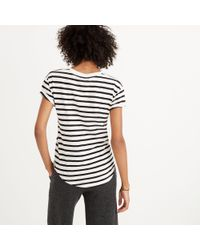Madewell - Multicolor Whisper Cotton Crewneck Tee In Winthrop Stripe - Lyst