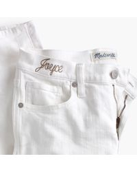 """Madewell - Taller 8"""" Skinny Jeans In Pure White - Lyst"""