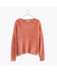 Madewell | Black Popstitch Pullover Sweater | Lyst