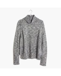 Madewell | Gray Raglan Turtleneck Sweater | Lyst