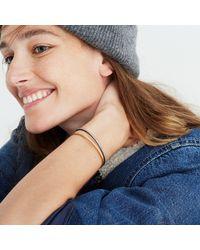 Madewell - Multicolor Pavé Cuff Bracelet Set - Lyst