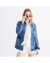 Madewell - Blue Strawberry Embroidered Workwear Jacket - Lyst