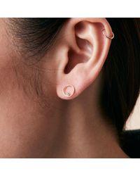 Madewell - Metallic X Still Housetm 14k Gold Lapé Diamond Earrings - Lyst
