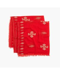 Madewell - Red Color-weave Scarf - Lyst