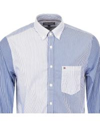 Tommy Hilfiger - Mixed Stripe Shirt Blue for Men - Lyst
