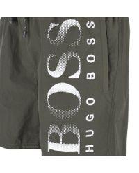 BOSS - Octopus Swim Shorts Green for Men - Lyst