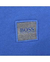 BOSS Orange - Wheel Sweatshirt Blue for Men - Lyst