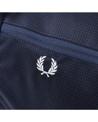 Fred Perry - Blue Checked Twill Barrel Bag Navy for Men - Lyst