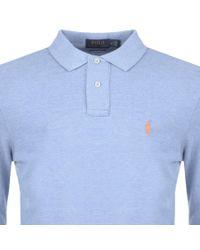 Ralph Lauren - Custom Slim Fit Polo T Shirt Blue for Men - Lyst