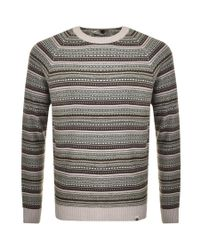 Pretty Green - Stanhope Knit Jumper Brown for Men - Lyst