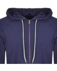 PS by Paul Smith - Blue Full Zip Hoodie Navy for Men - Lyst