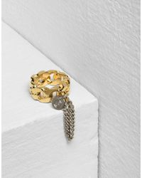 MM6 by Maison Martin Margiela - Metallic Chain Ring - Lyst
