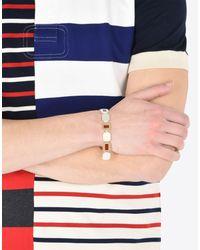 Maison Margiela - Metallic Linked Silver Bracelet - Lyst