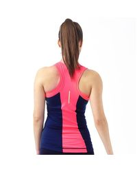 ELLE Sport - Performance Support Vest Blueberry Duo/pink Rage/apple Sour - Lyst