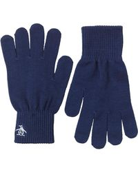Original Penguin - Blue Rib Gloves Navy for Men - Lyst