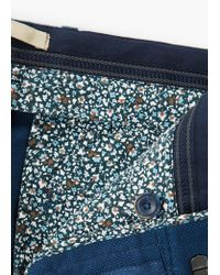 Mango - Blue Slim-fit Cotton Chinos for Men - Lyst