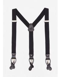 Mango - Black Adjustable Elastic Braces for Men - Lyst