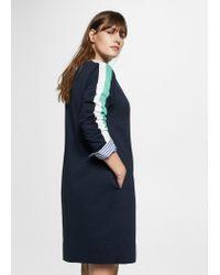 Violeta by Mango - Blue Combined Sweatshirt Dress - Lyst
