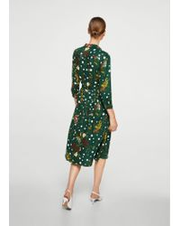 Mango - Green Dress - Lyst