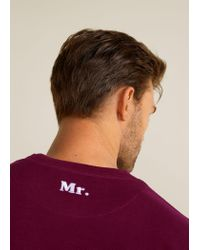 Mango - Red Message Cotton Piqué Sweatshirt for Men - Lyst
