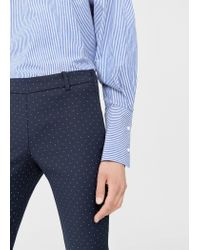 Mango | Blue Trousers | Lyst