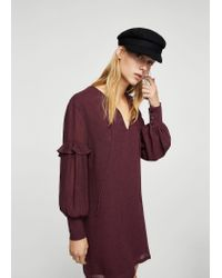 Mango - Purple Dress - Lyst