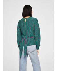 Mango - Green Blouse - Lyst