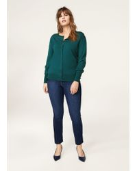 Violeta by Mango - Green Puffed Sleeves Cardigan - Lyst
