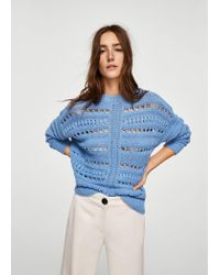 Mango - Blue Sweater - Lyst