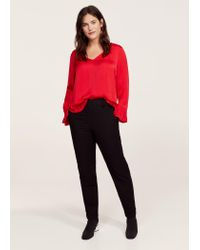Violeta by Mango | Red Ruffled Sleeve Blouse | Lyst