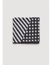 Mango   Black Stripes Lightweight Scarf   Lyst